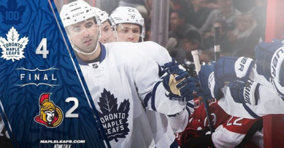 Toronto Maple Leafs beat the Ottawa Senators.png