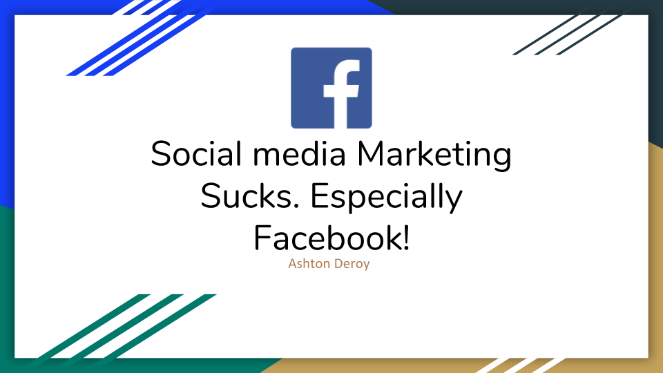 Social media Marketing Sucks