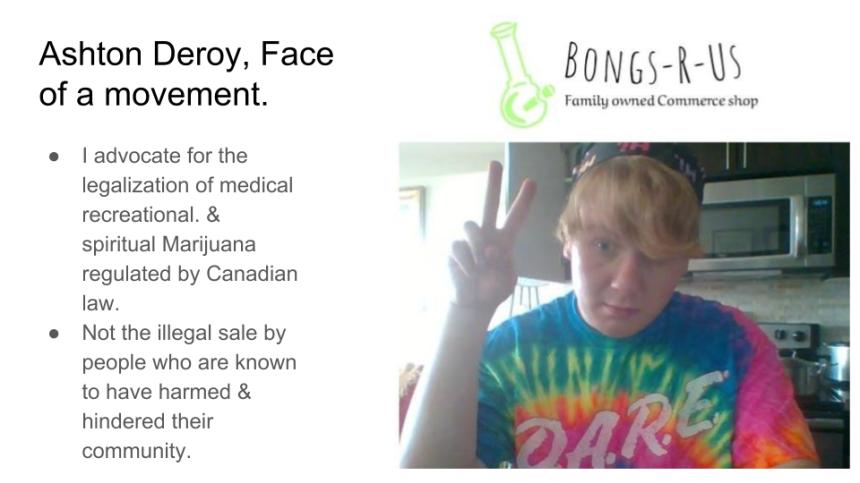 Ashton Deroy, Face of a movement.