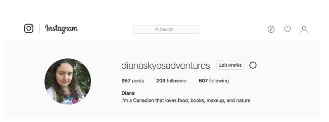 Diana Skye's Instagram