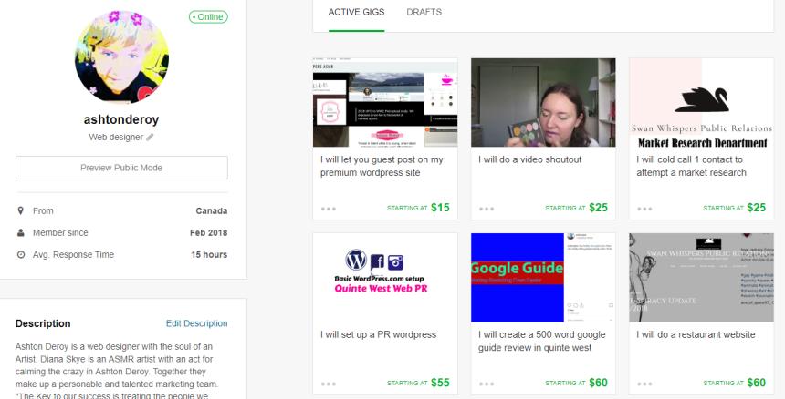 Web design shop