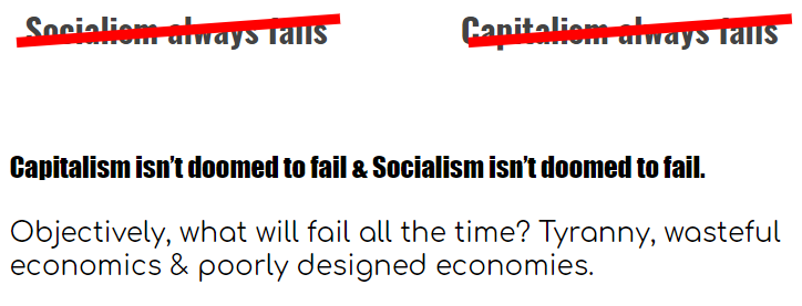 Dropping Socialist rhetoric for a second. Obviously, I support MixedEconomies.