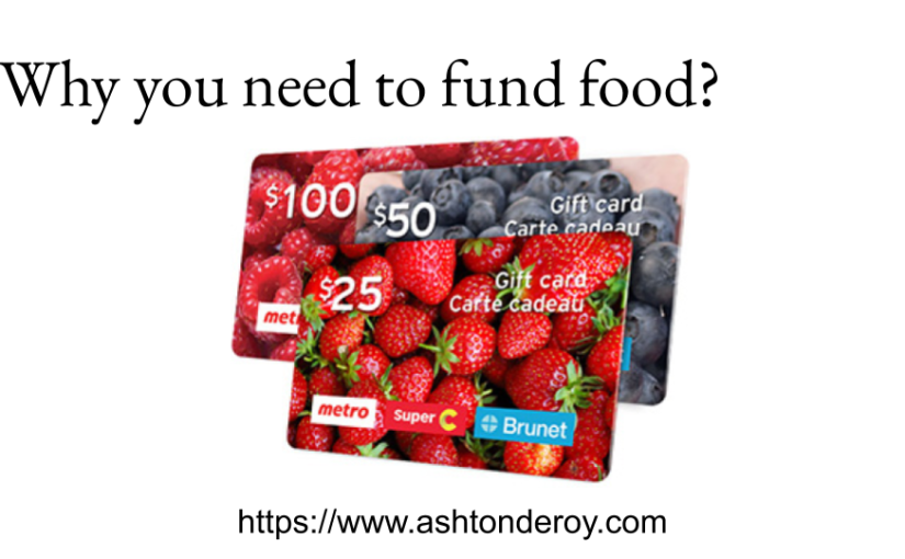 Why you need to fund food?