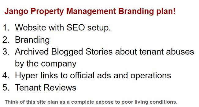 Jango Property Management site plan