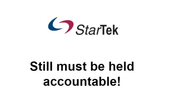 Star Tek must be held accountable.