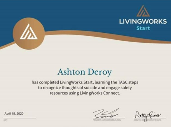Living works Certificate