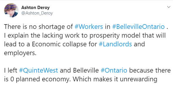 No worker shortage Belleville Ontario