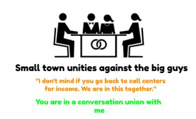 Quinte West, Smalltown unities against the bigguys